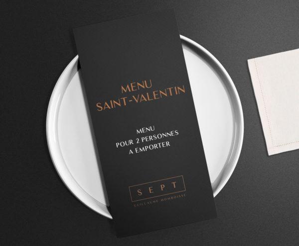 menu saint valentin restaurant sept guillaume momboisse